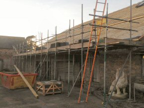 Thornlands, Hockworthy - Roofing scaffold